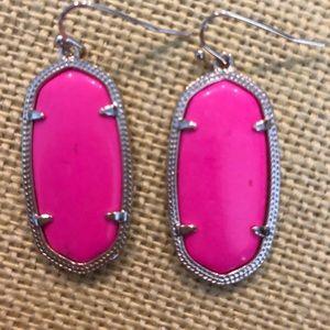 Kendra Scott Lee Magenta Silver Earrings